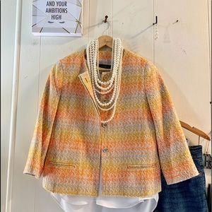 Talbots Fall 🍁 colors 3/4 sleeve tweed jacket